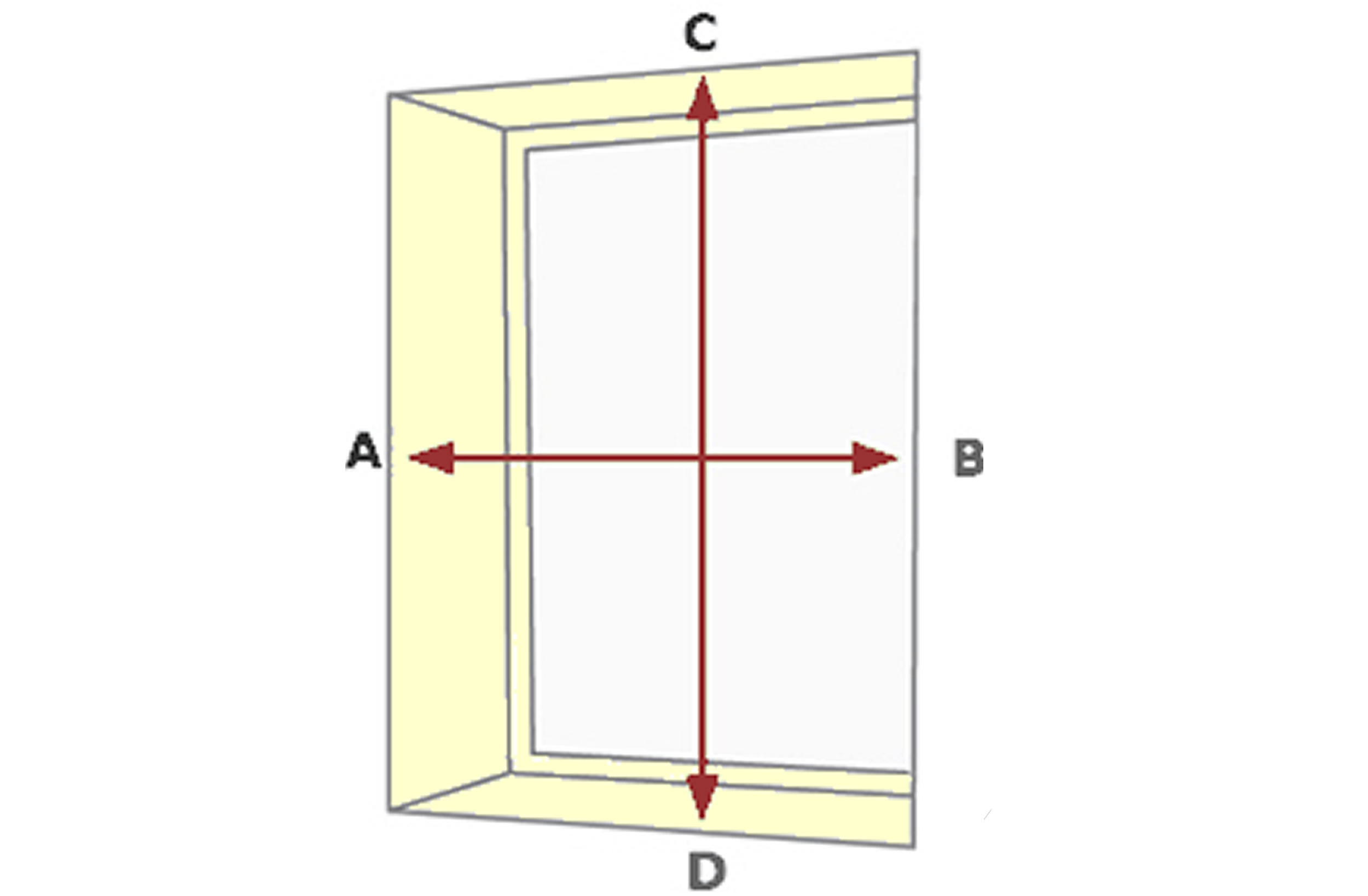 how to measure Roller Blind Inside a Recess