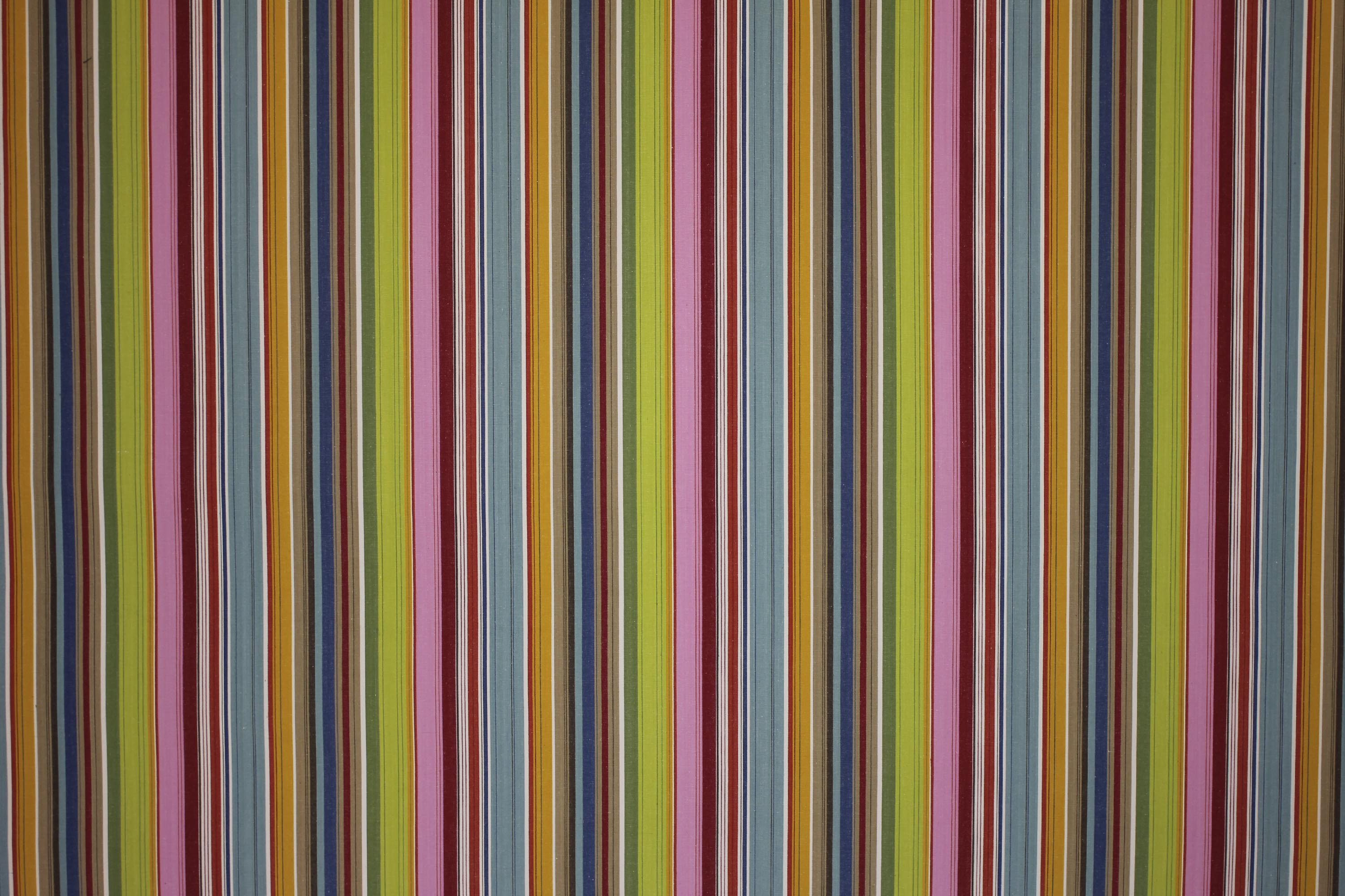 Pink Striped Oilcloth Fabrics | Wipeable Stripe Fabrics Parachuting Stripes