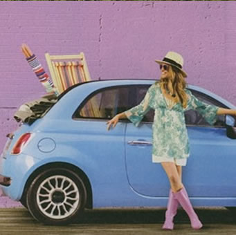 Deckchairs and Windbreaks used in a Fiat 500 Beach Wear Ad