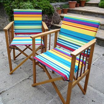Deckchair Canvas Fabric used to recover directors chairs