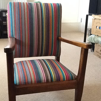 Striped Fabrics for reupholstering chairs and sofas