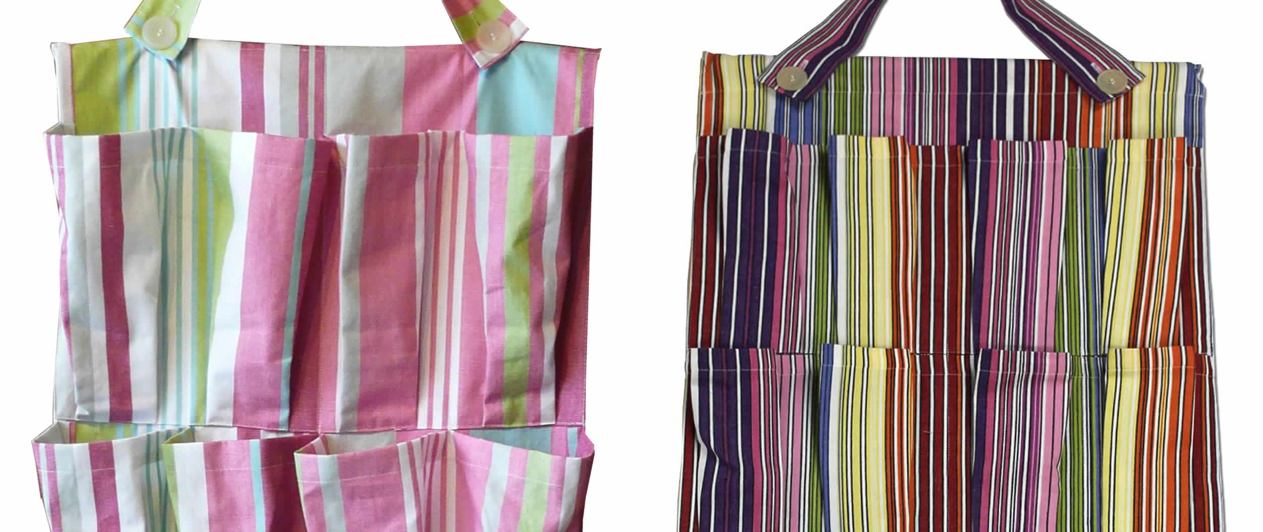 Hanging Storage Organiser - Rainbow Stripes