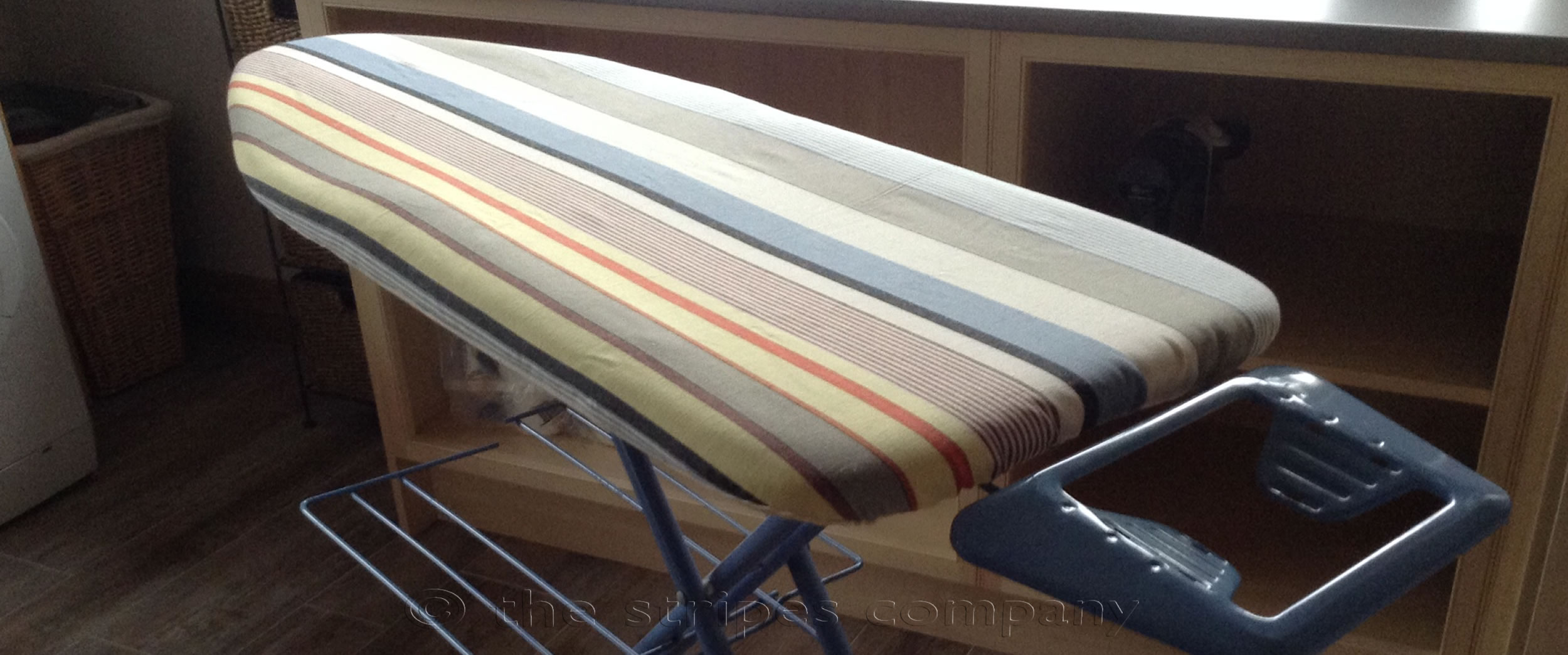 Navy Striped Ironing Board Covers | Snowboarding Stripe