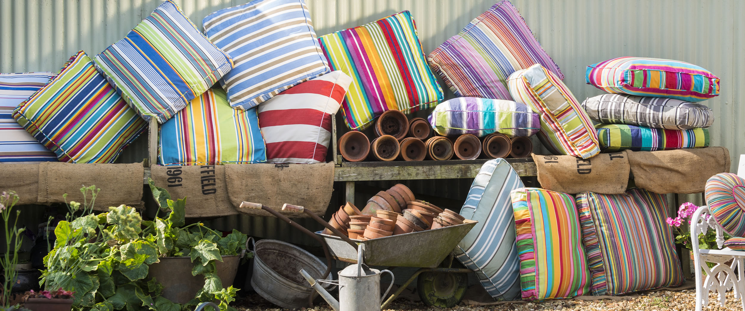 Outdoor hanging chair - Large Floor Cushions The Stripes Company Australia