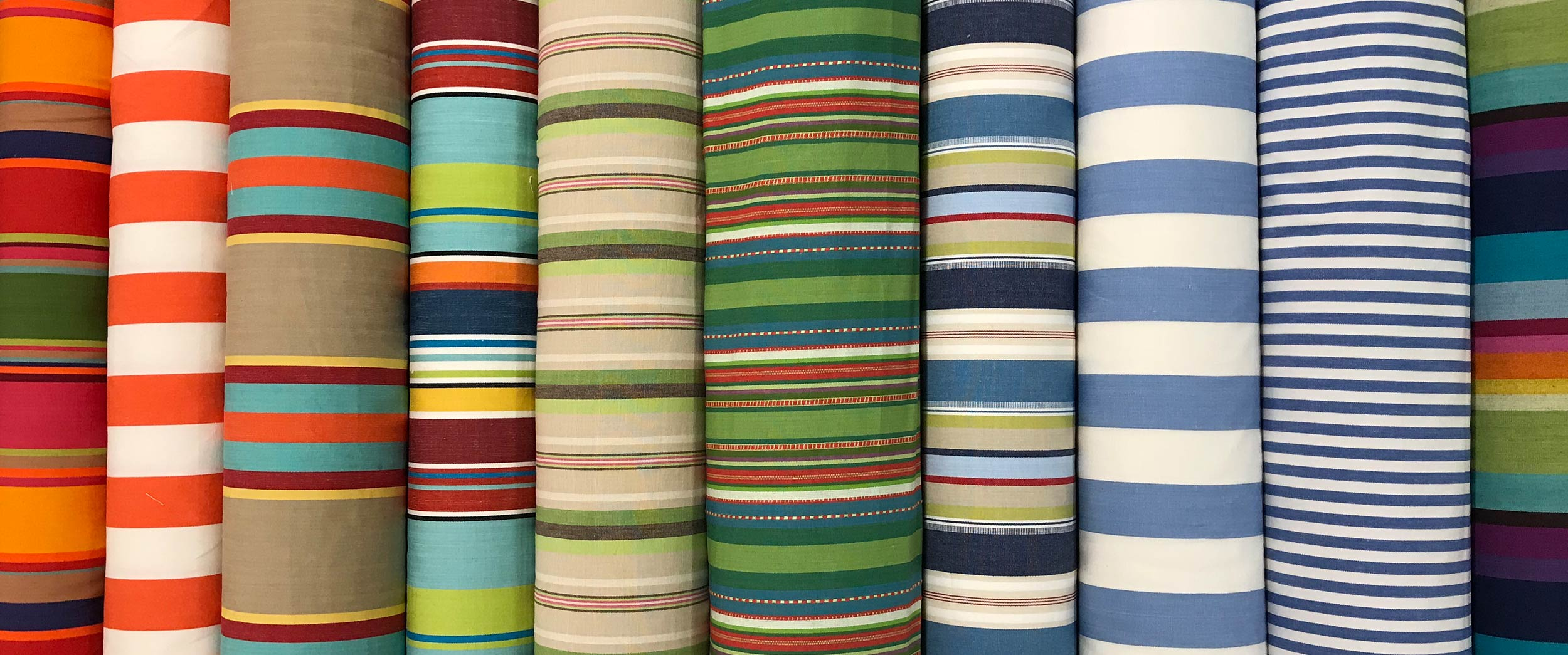 Tennis Interior Striped Fabric 150cm The Stripes Company