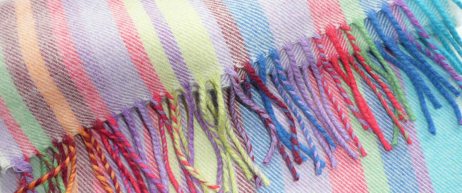 Striped Merino Wool Scarves - Quickstep Stripe