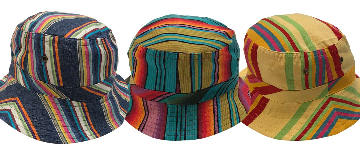 2ca513a1973 Black Striped Sun Hats