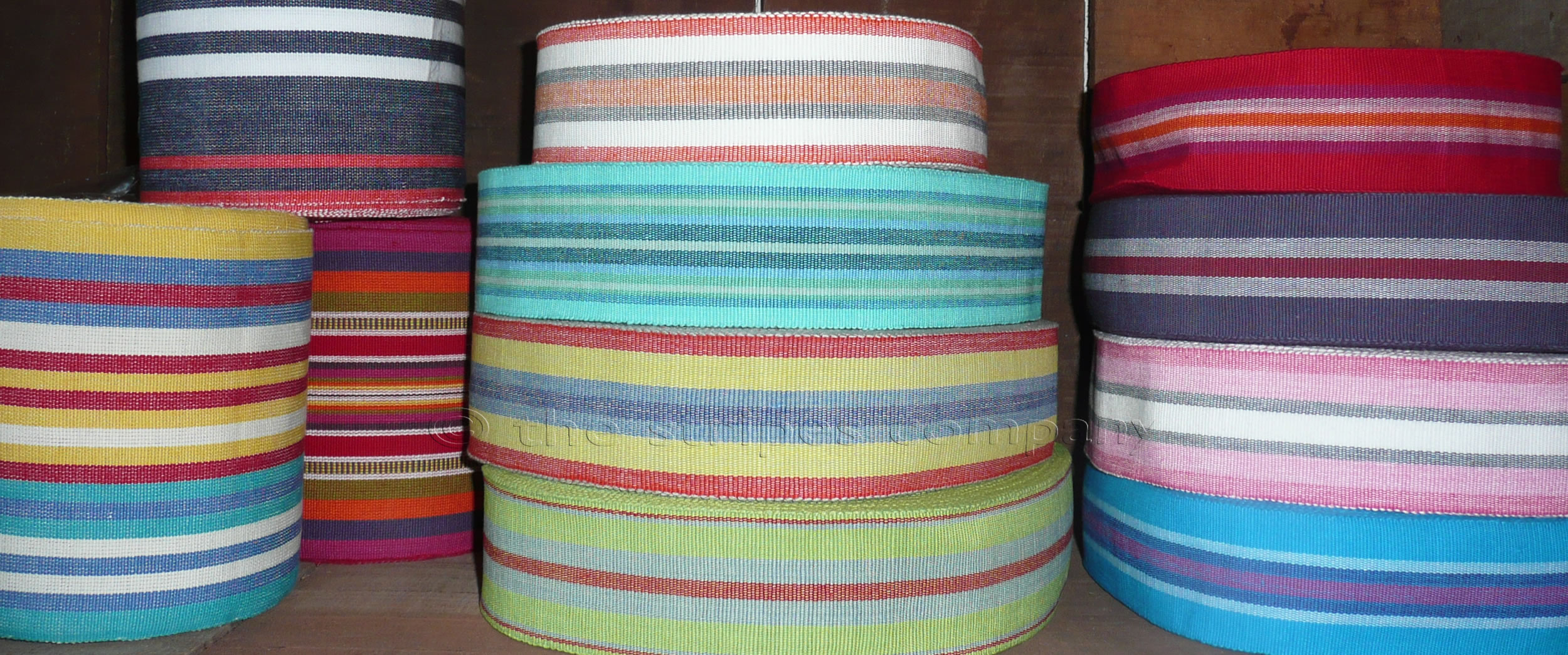 Red, white and blue stripe webbing
