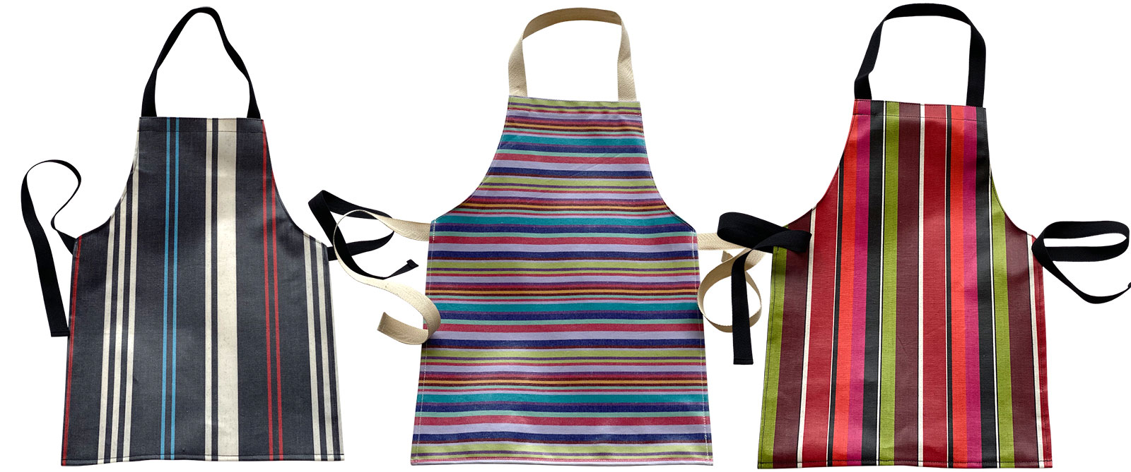 PVC Oilcloth Aprons for Toddlers blue, pink, turquoise