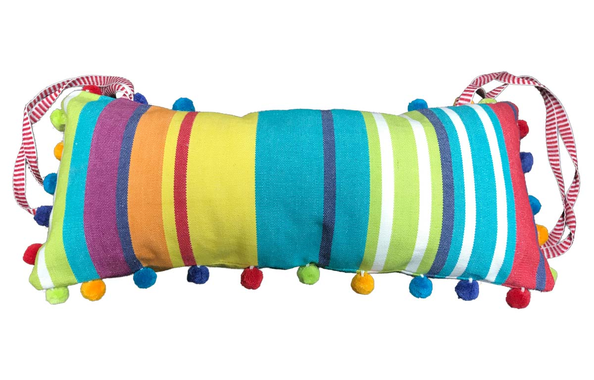 Aerobics Deckchair Headrest Cushion | Tie on Pompom Headrest