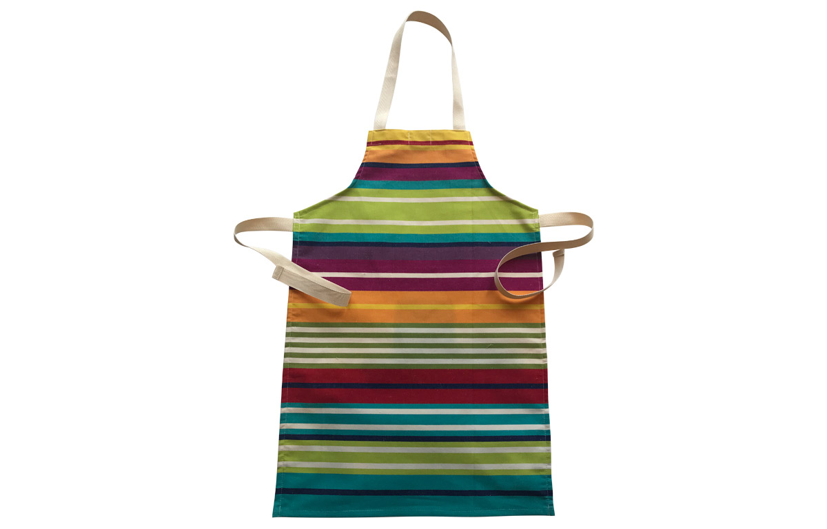 Turquoise Striped Kids Aprons | Aprons for Children Turquoise Green Red  Stripes