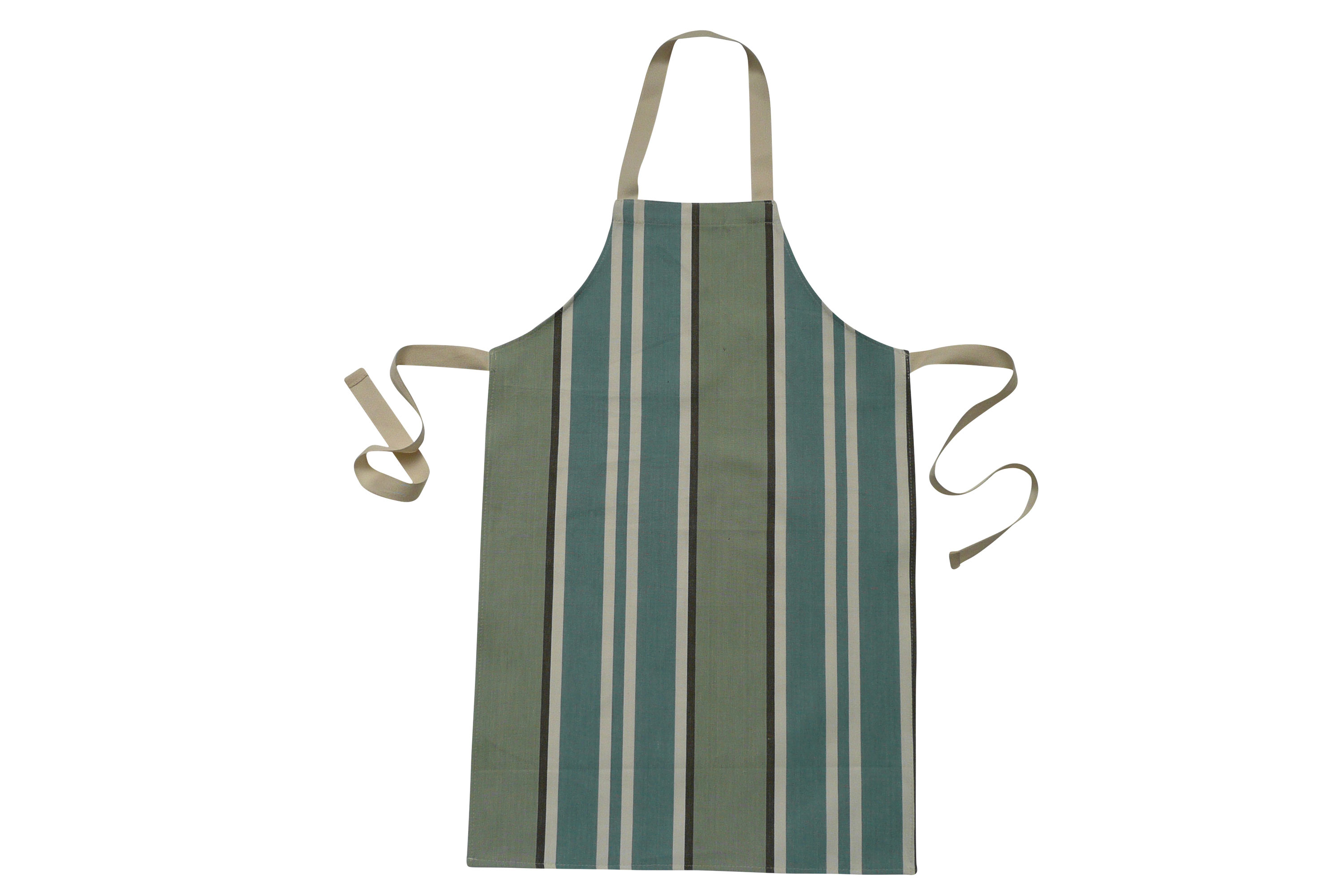 Striped Kids Aprons | Aprons for Childrenteal, pale aqua, dark grey