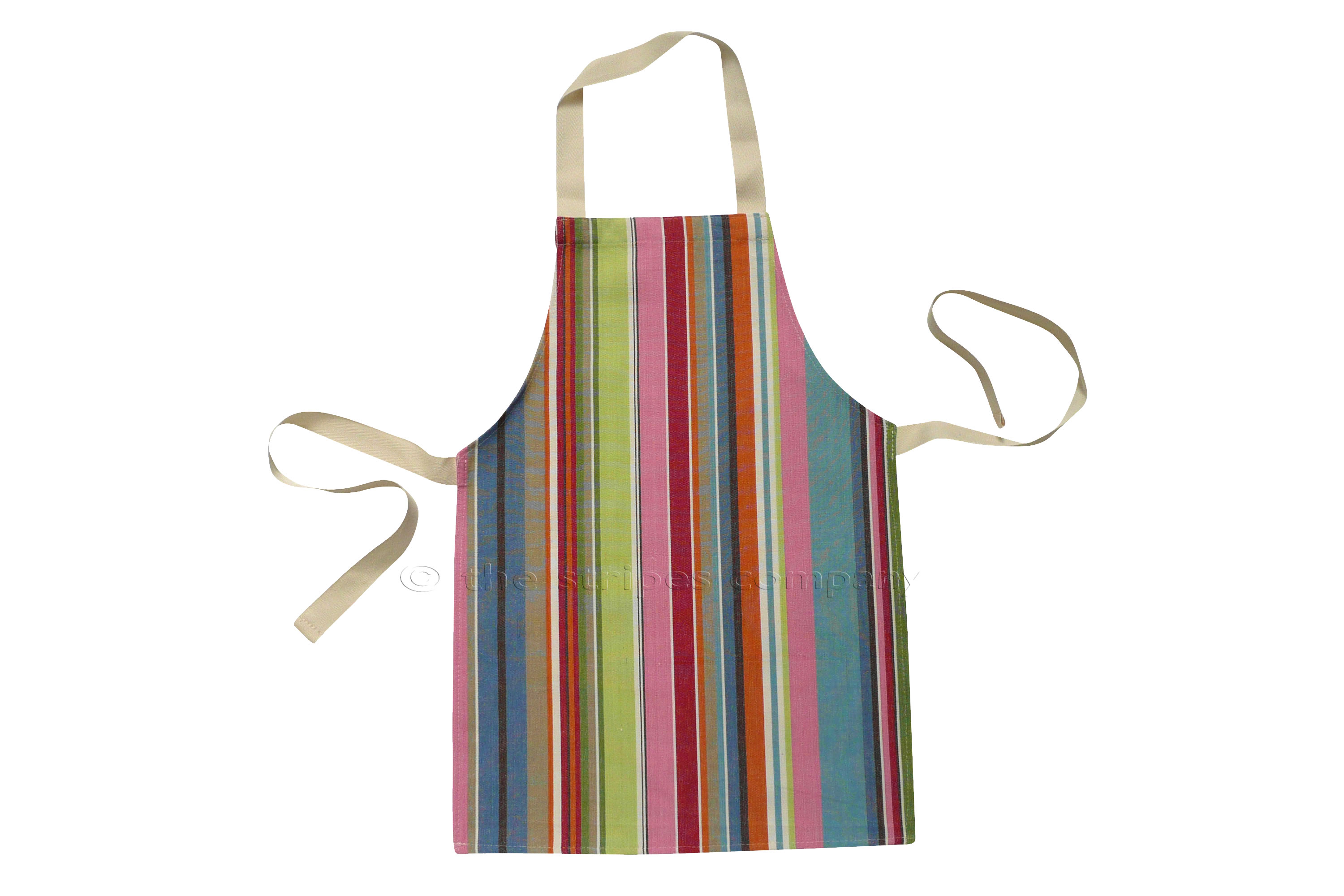 Blue Toddlers Aprons - Striped Aprons For Small Children Blue  Pink  Turquoise  Stripes