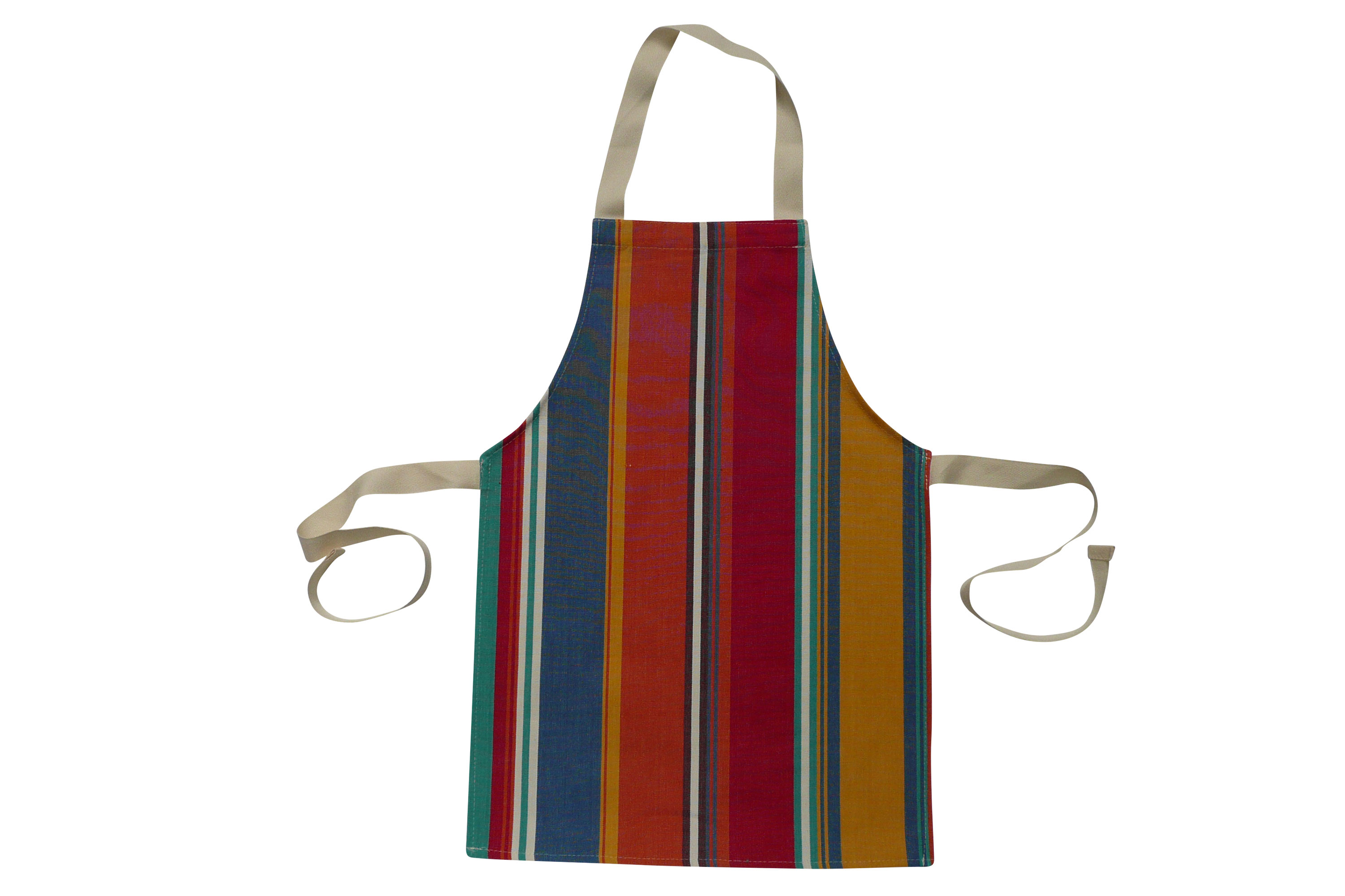 Toddlers Aprons - Striped Aprons For Small Childrenorange, blue, jade green