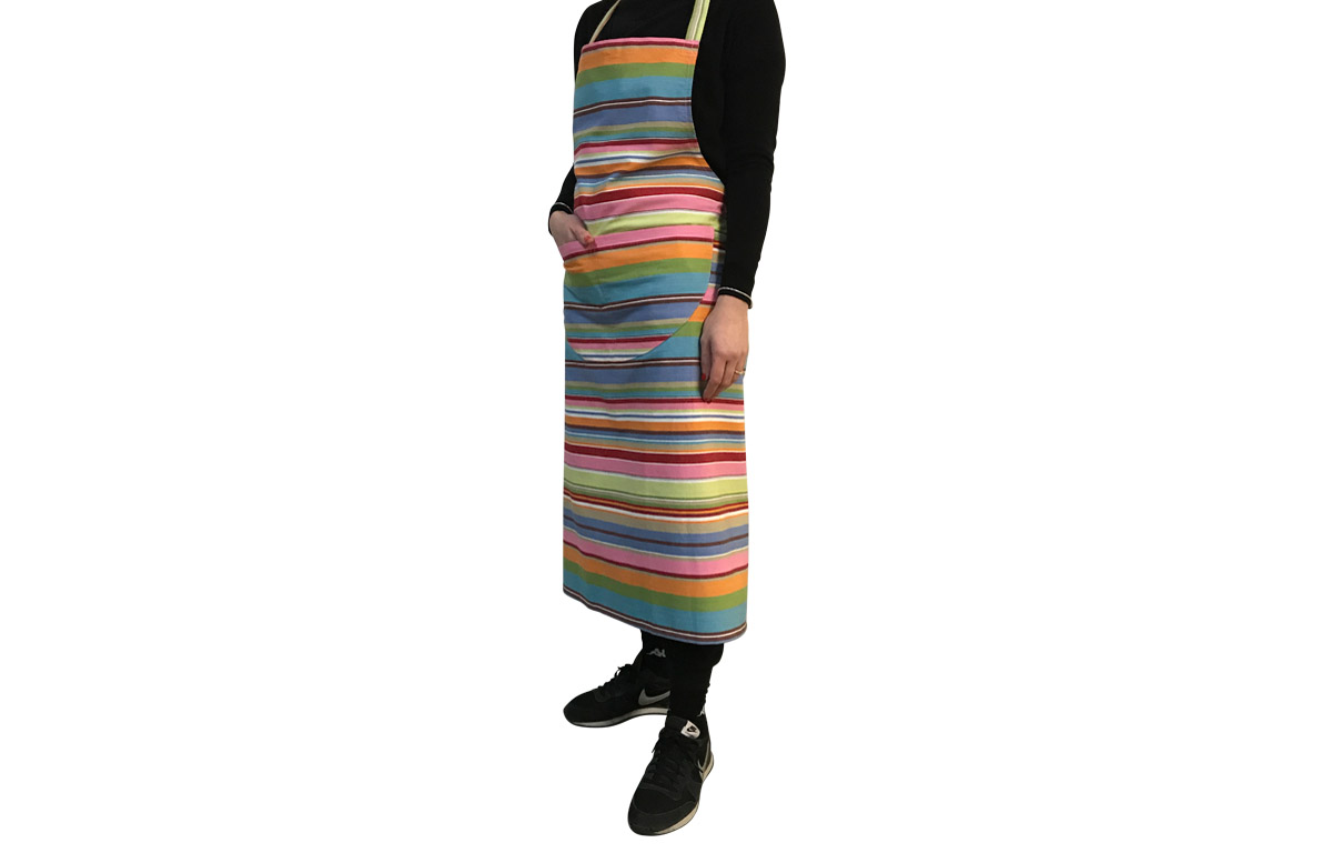 Blue Pink Striped Aprons