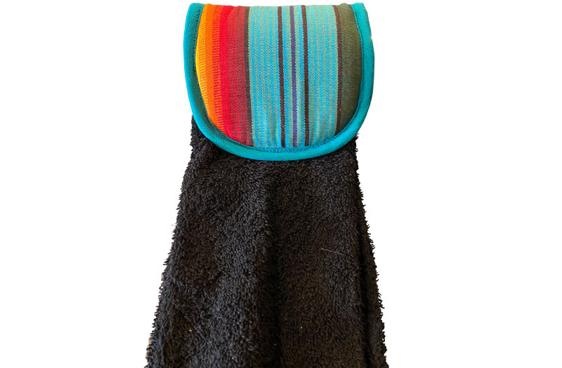 black- Aga Towels | Hanging Hand Towels for Ranges