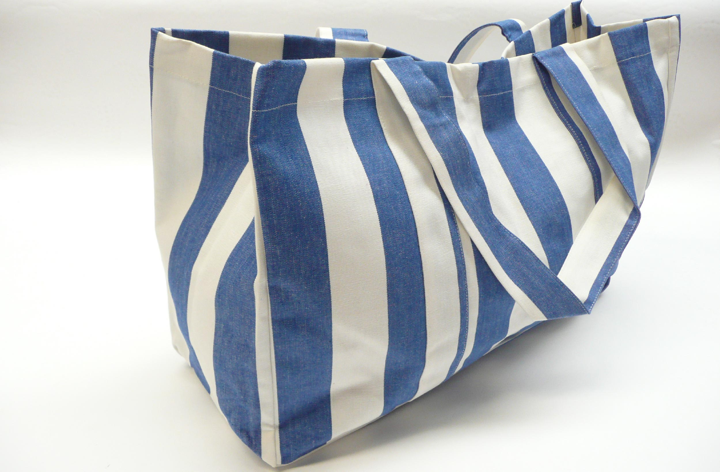 Extra Large Blue and White Beach Bag | The Stripes Company Australia