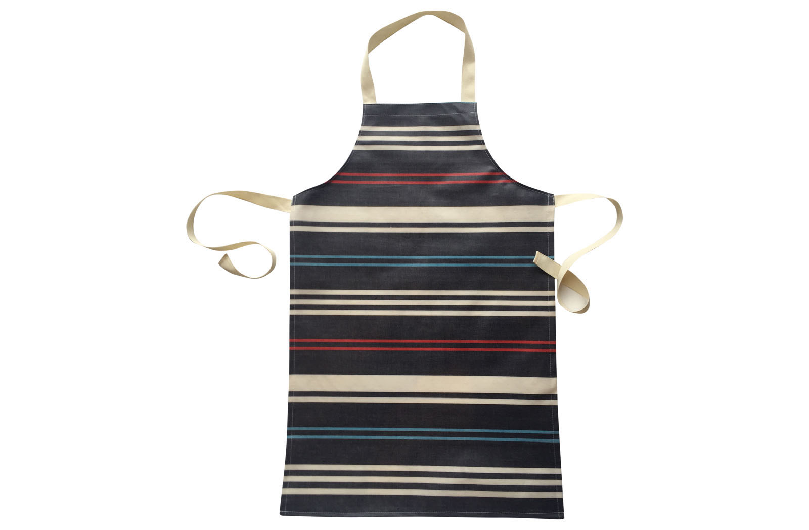 Navy Blue Striped PVC Aprons for Children