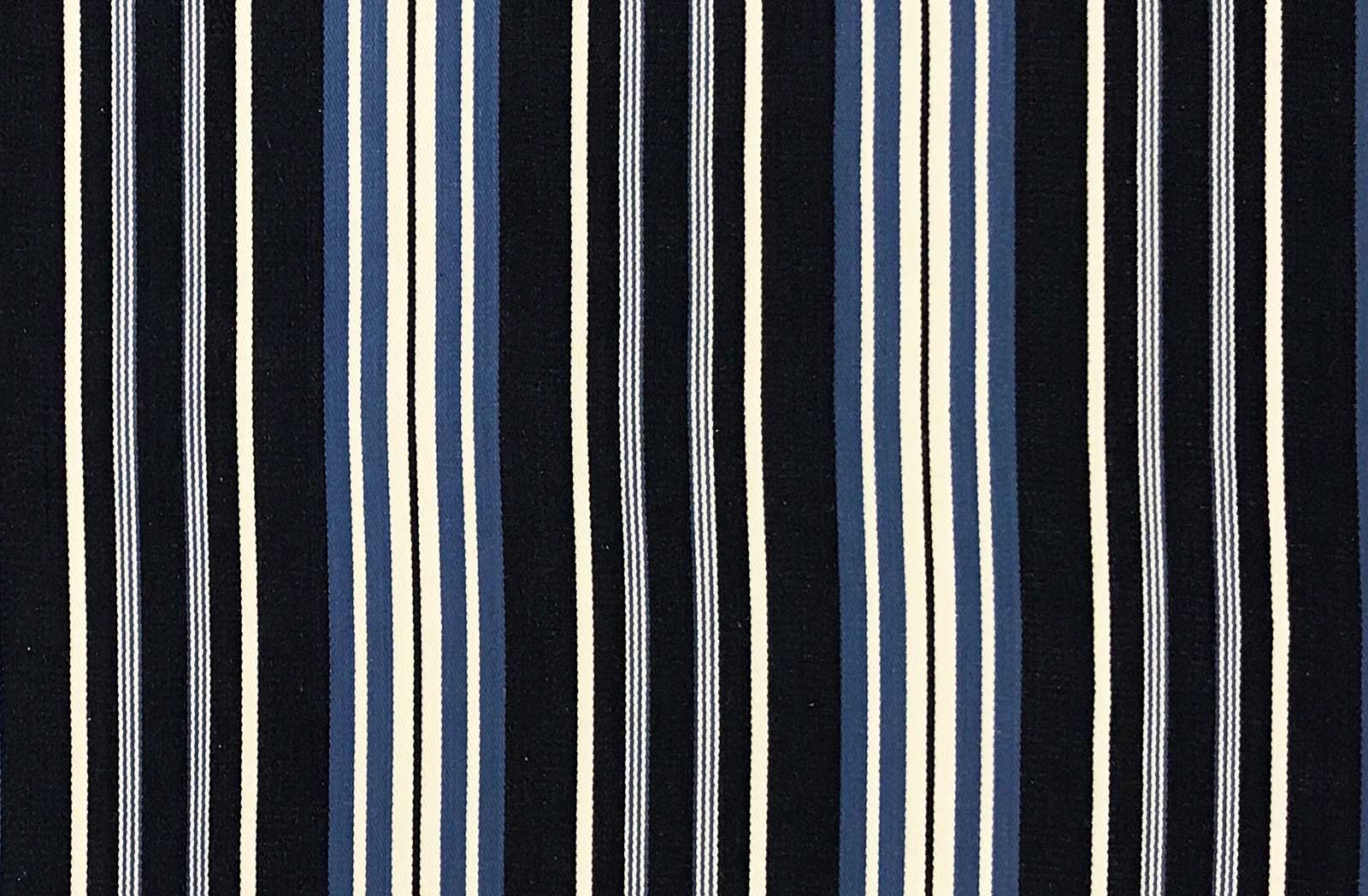 Dark Blue and White Stripe Ticking Fabric