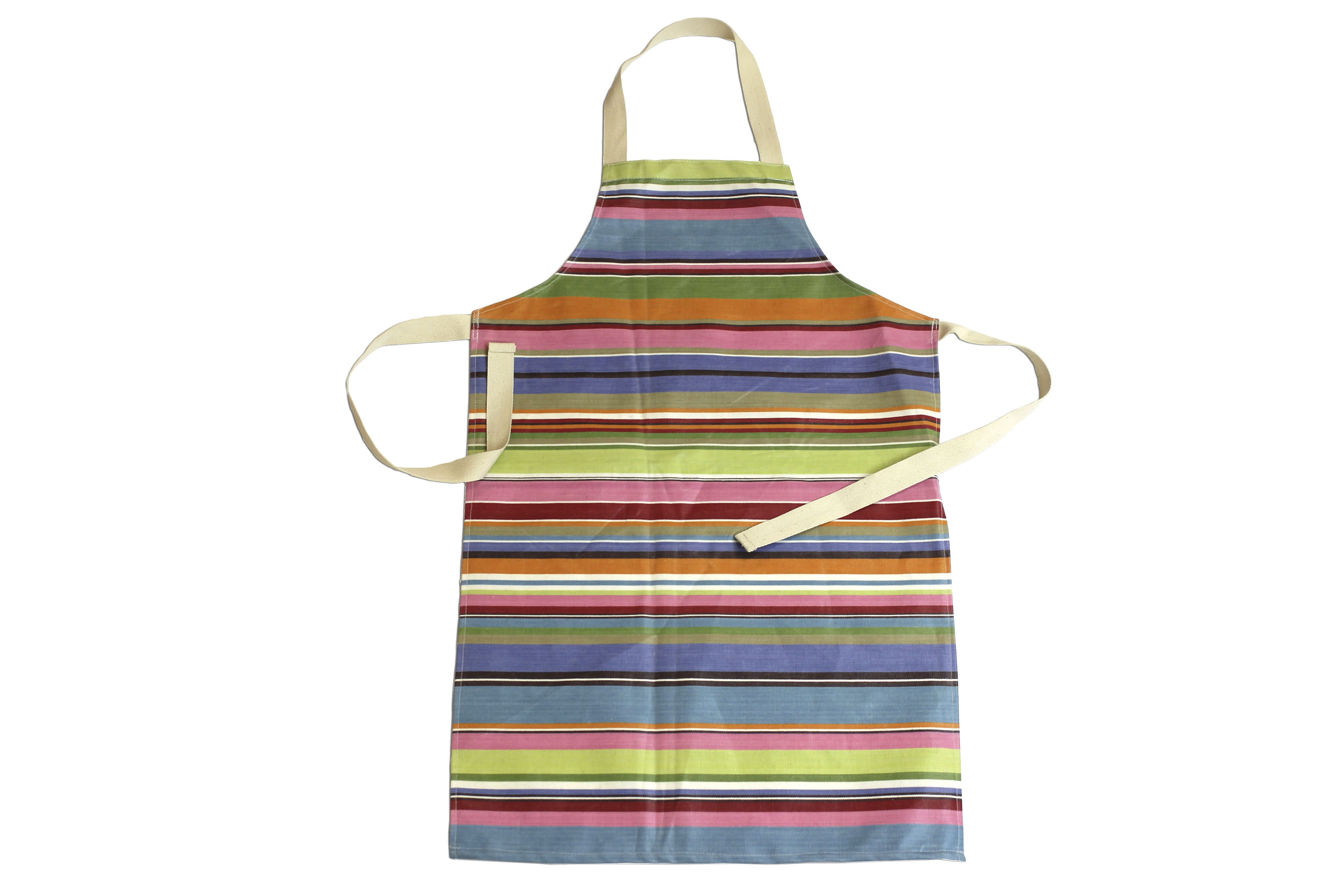 Blue Striped PVC Kids Aprons | Oilcloth Aprons for Children Blue  Pink  Turquoise  Stripes