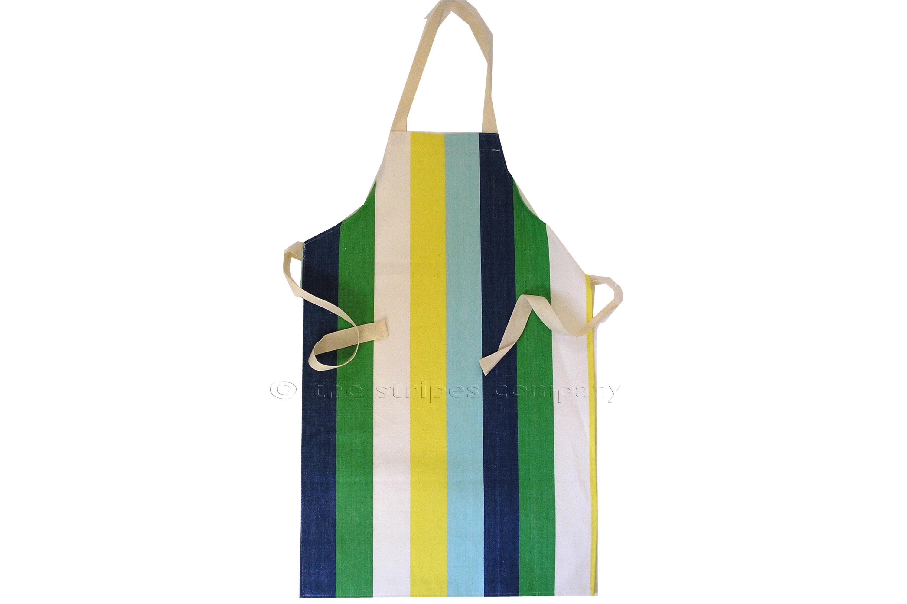 Blue Striped Kids Aprons | Aprons for Children Blue  Yellow  Green  Stripes