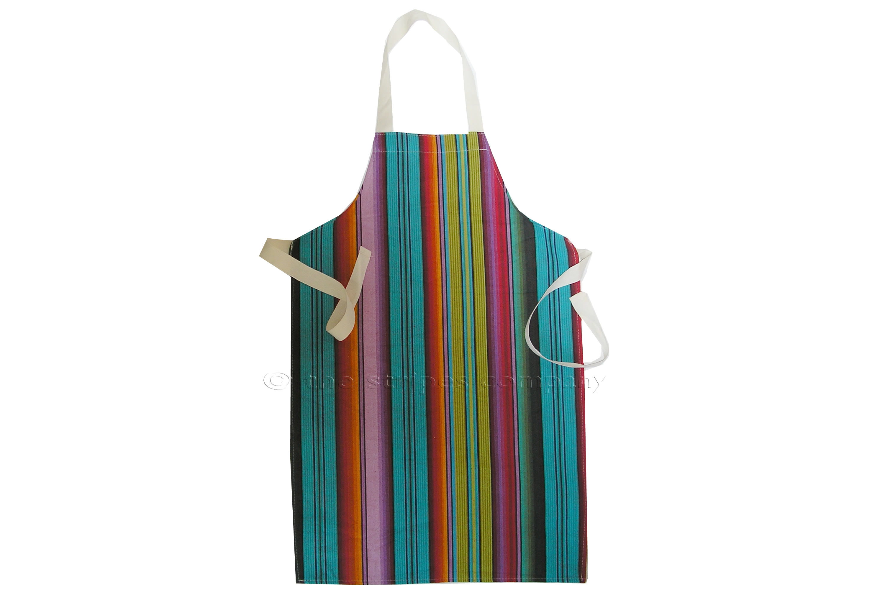 Blue Striped Kids Aprons | Aprons for Children Blue Green Orange Stripes