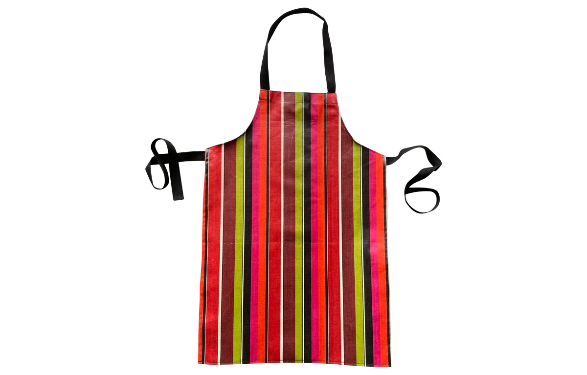 Pink, Red and Lime Green Stripe PVC Aprons for Kids