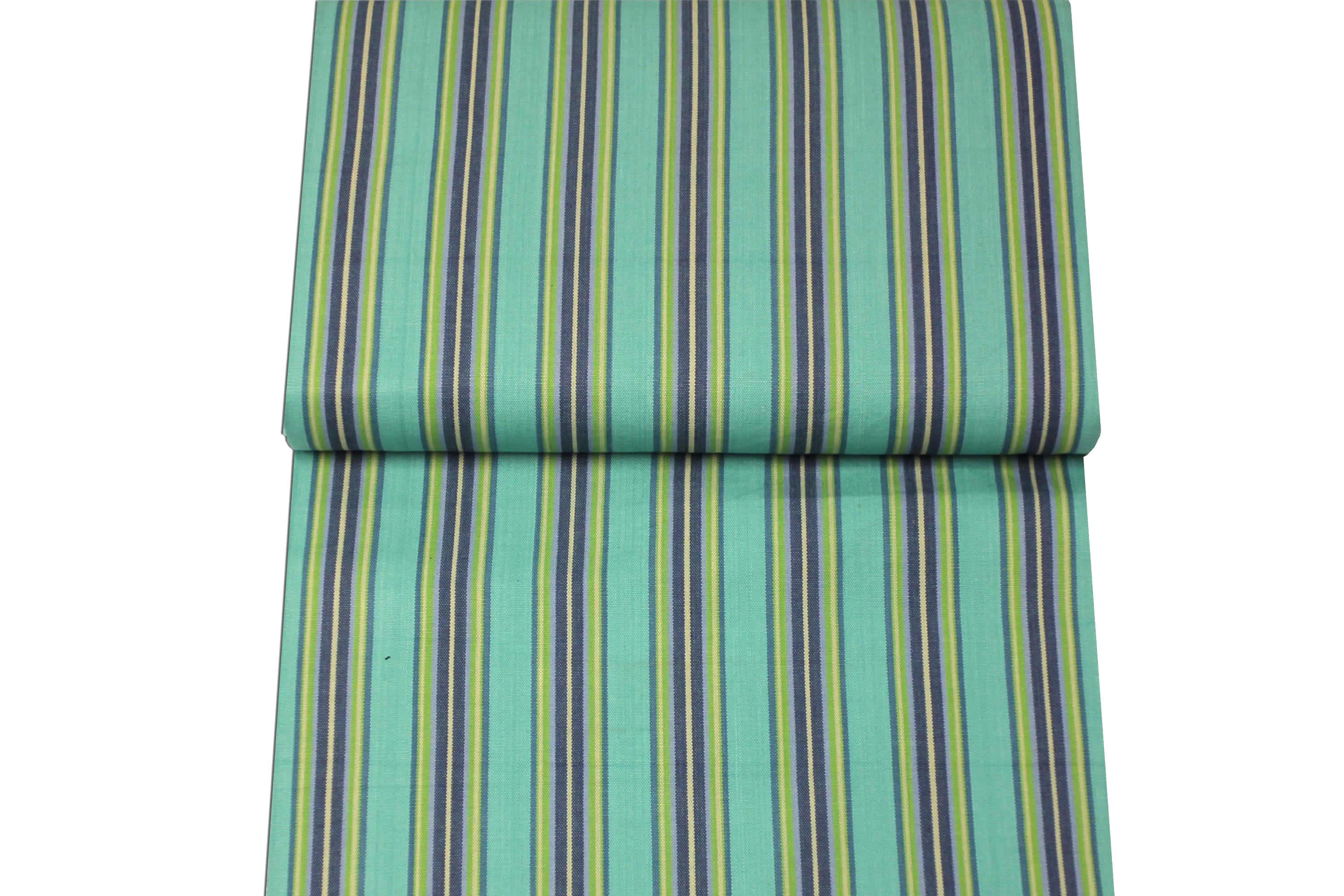Striped Deckchair Canvas Fabric Strong turquoise, blue, green
