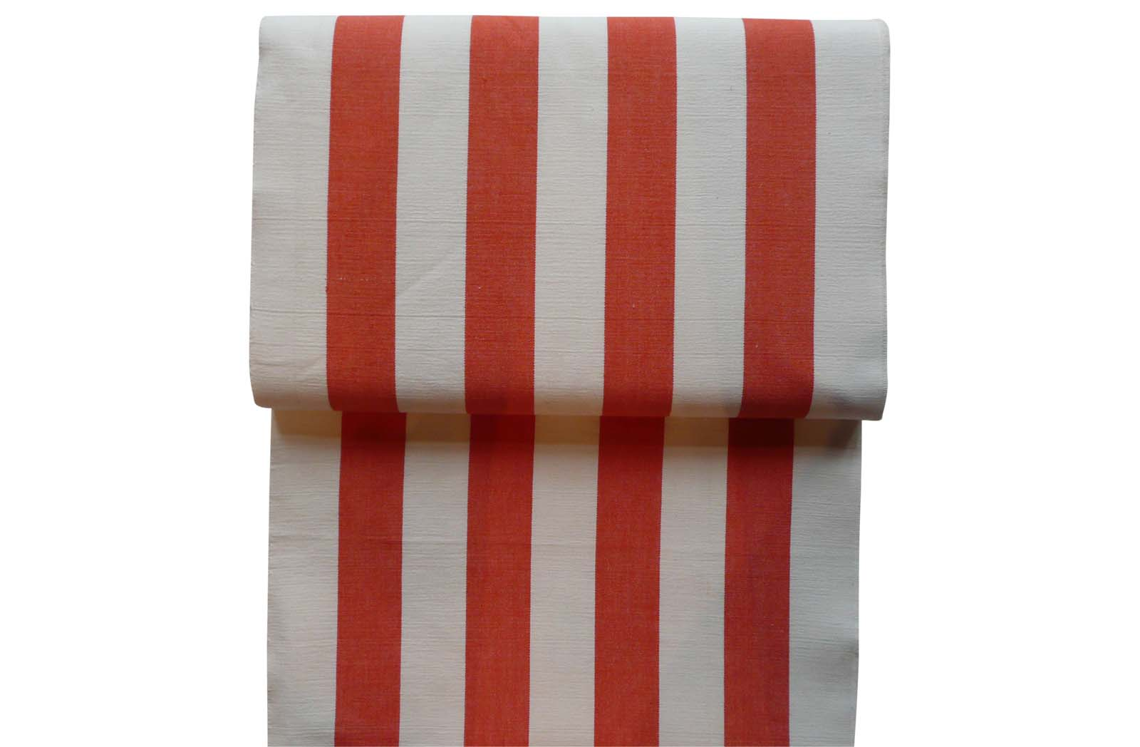Orange and White Striped Deck Chair Canvas
