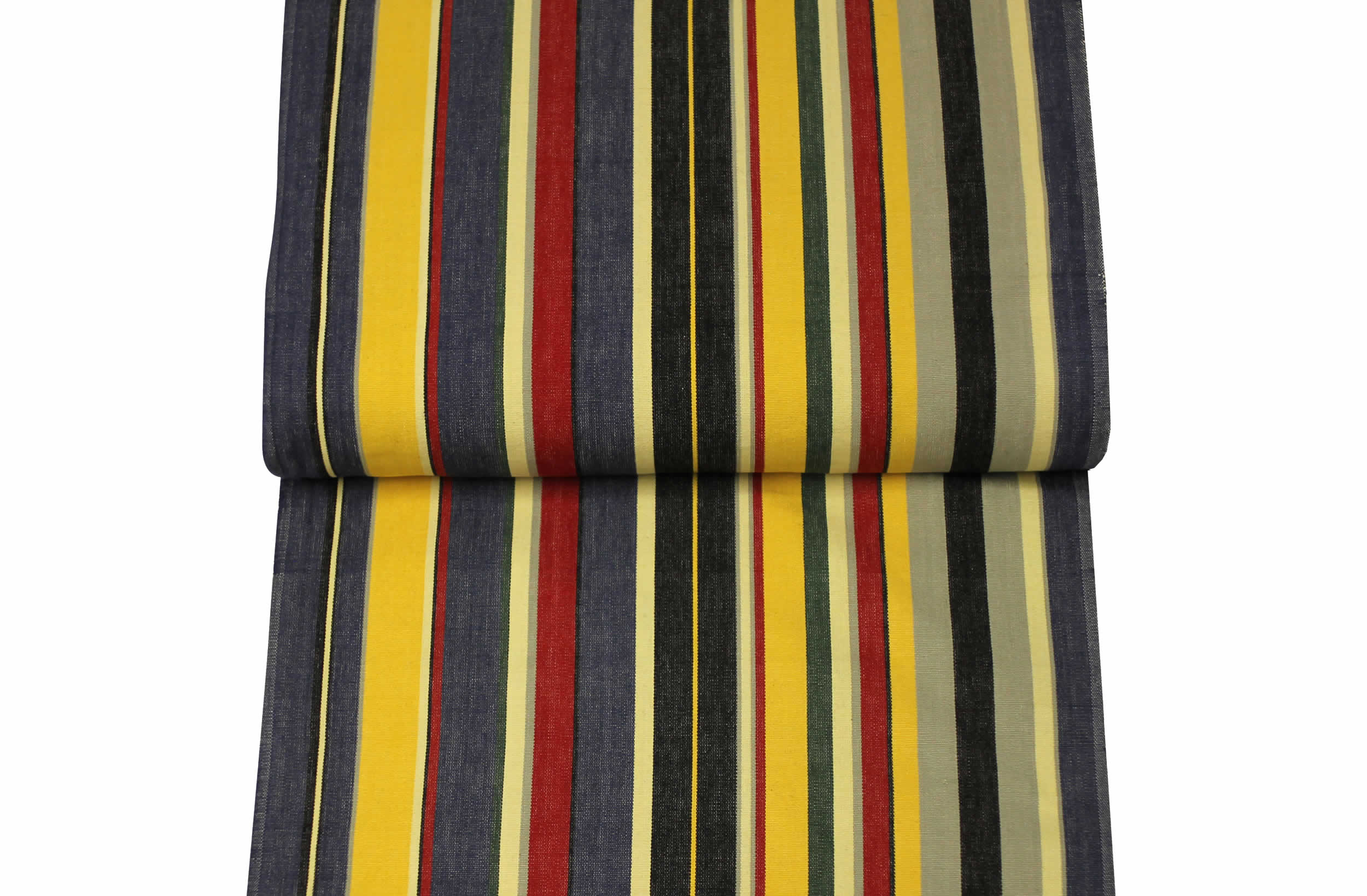 Blue Deckchair Canvas Fabrics Latin Stripe The Stripes