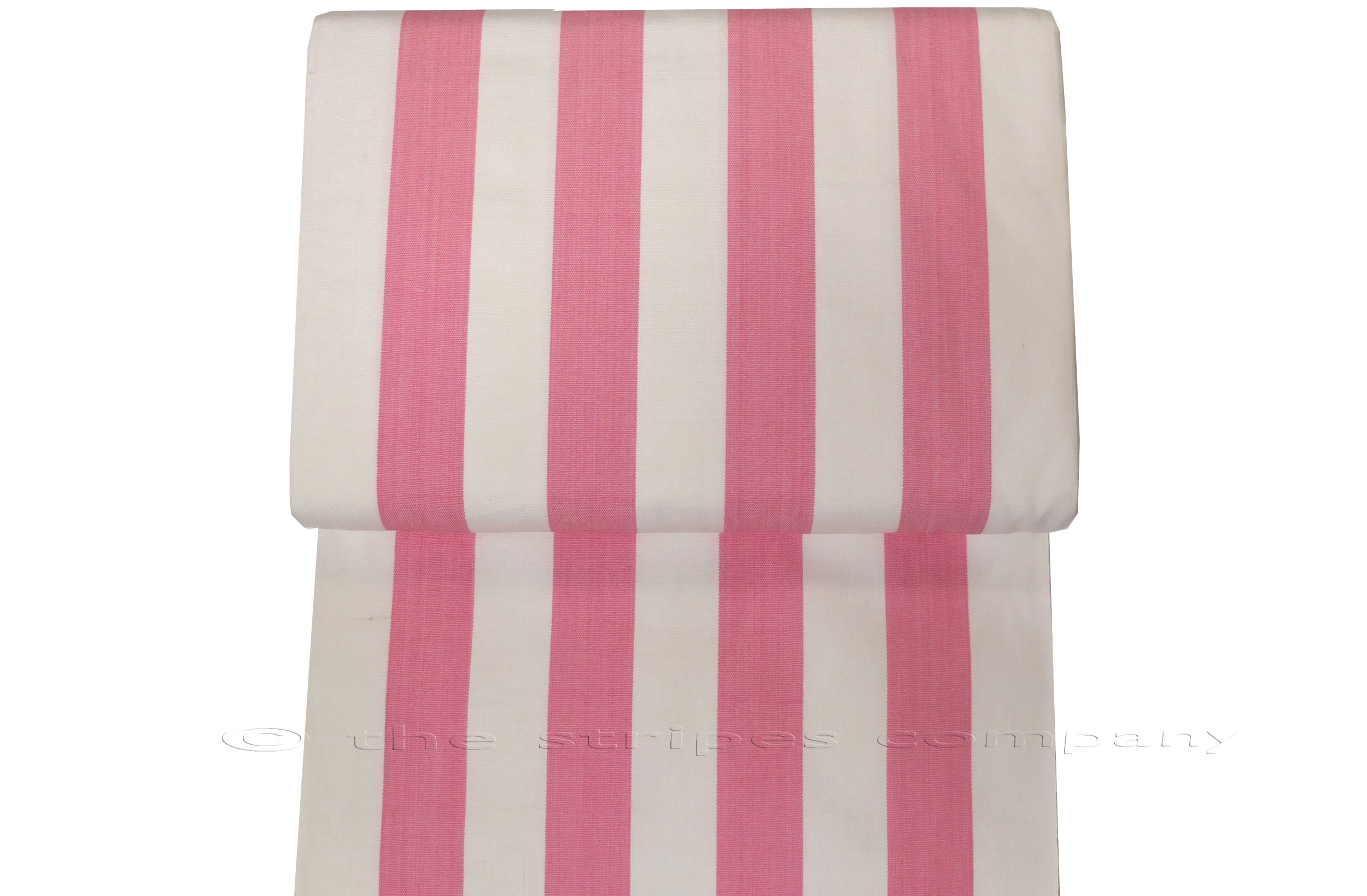 Pink White Striped Deckchair Canvas Fabric
