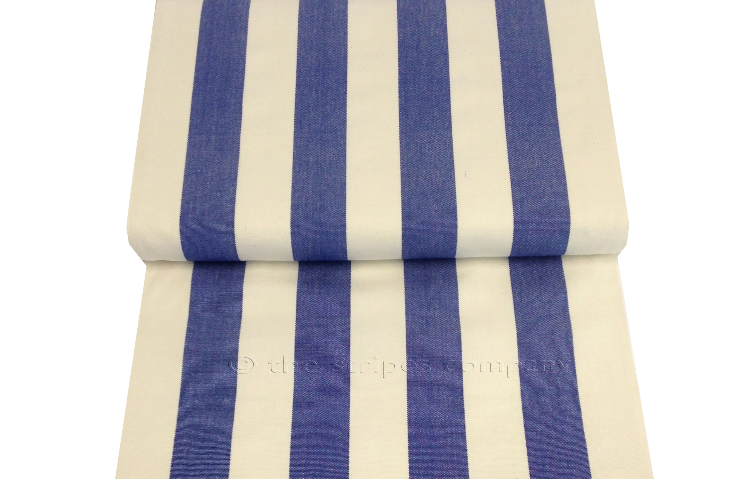 Blue White Deckchair Canvas Fabric
