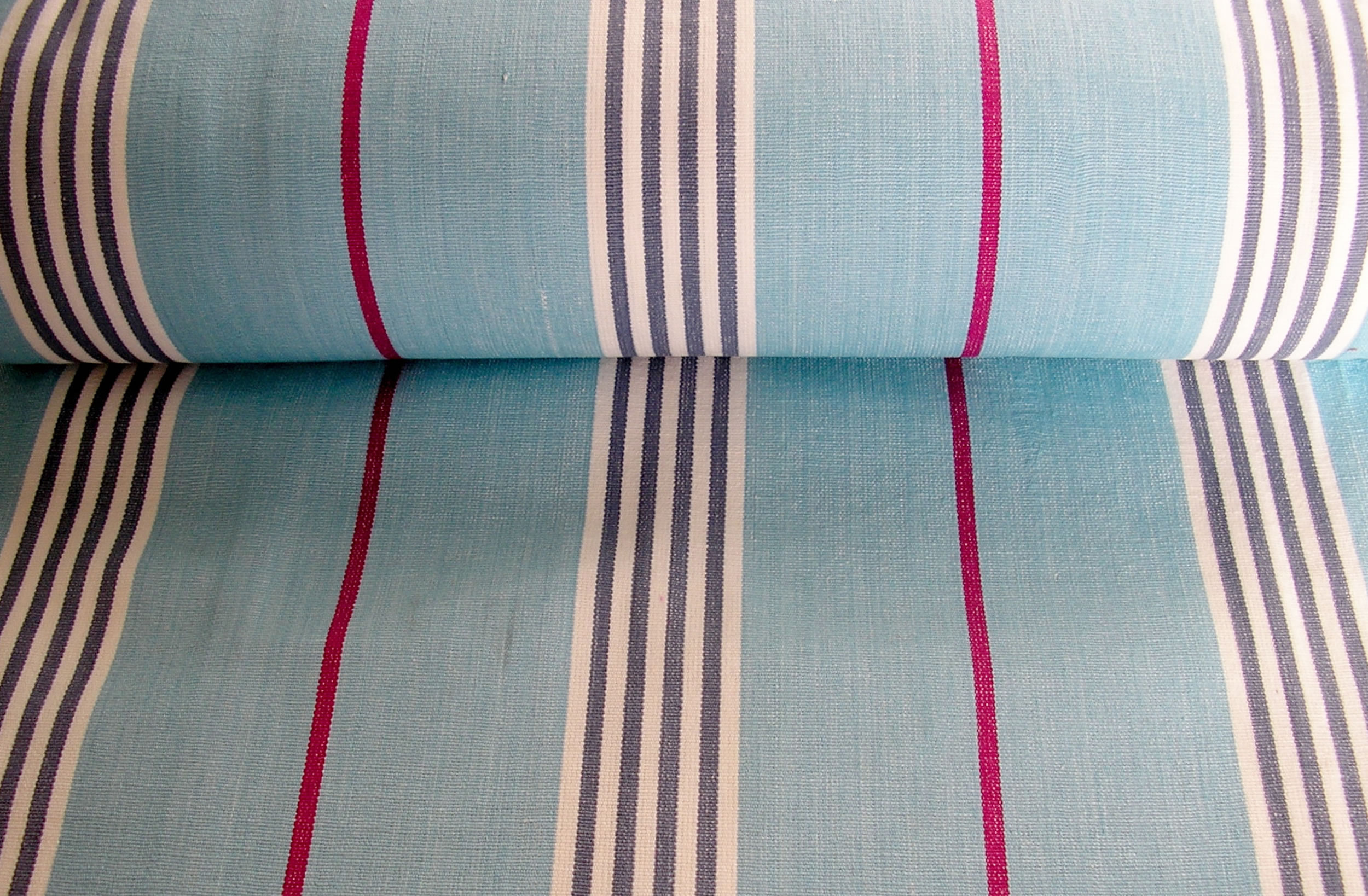Pale Blue  Deckchair Canvas | Deckchair Fabrics | Striped Deck Chair Fabrics Cha Cha Stripes