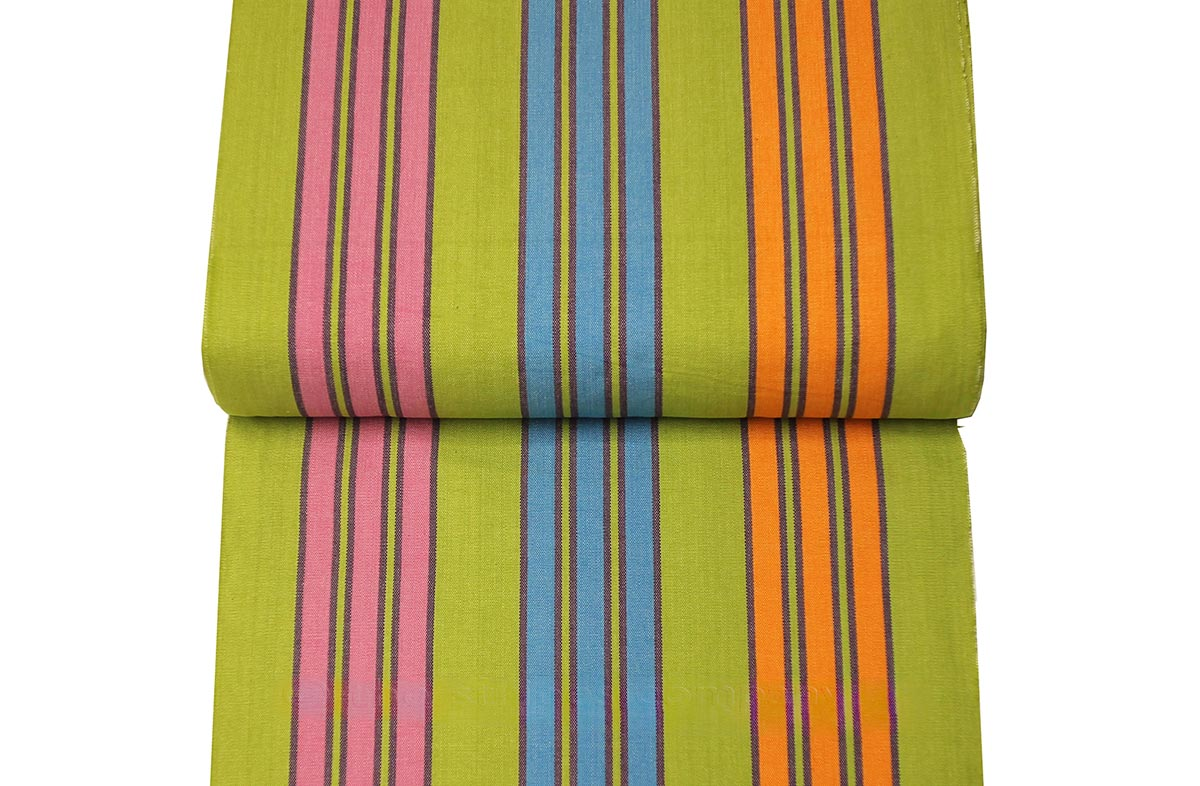 Deckchair Canvas | Striped Deck Chair Fabric Green, Turquoise, Pink Stripes