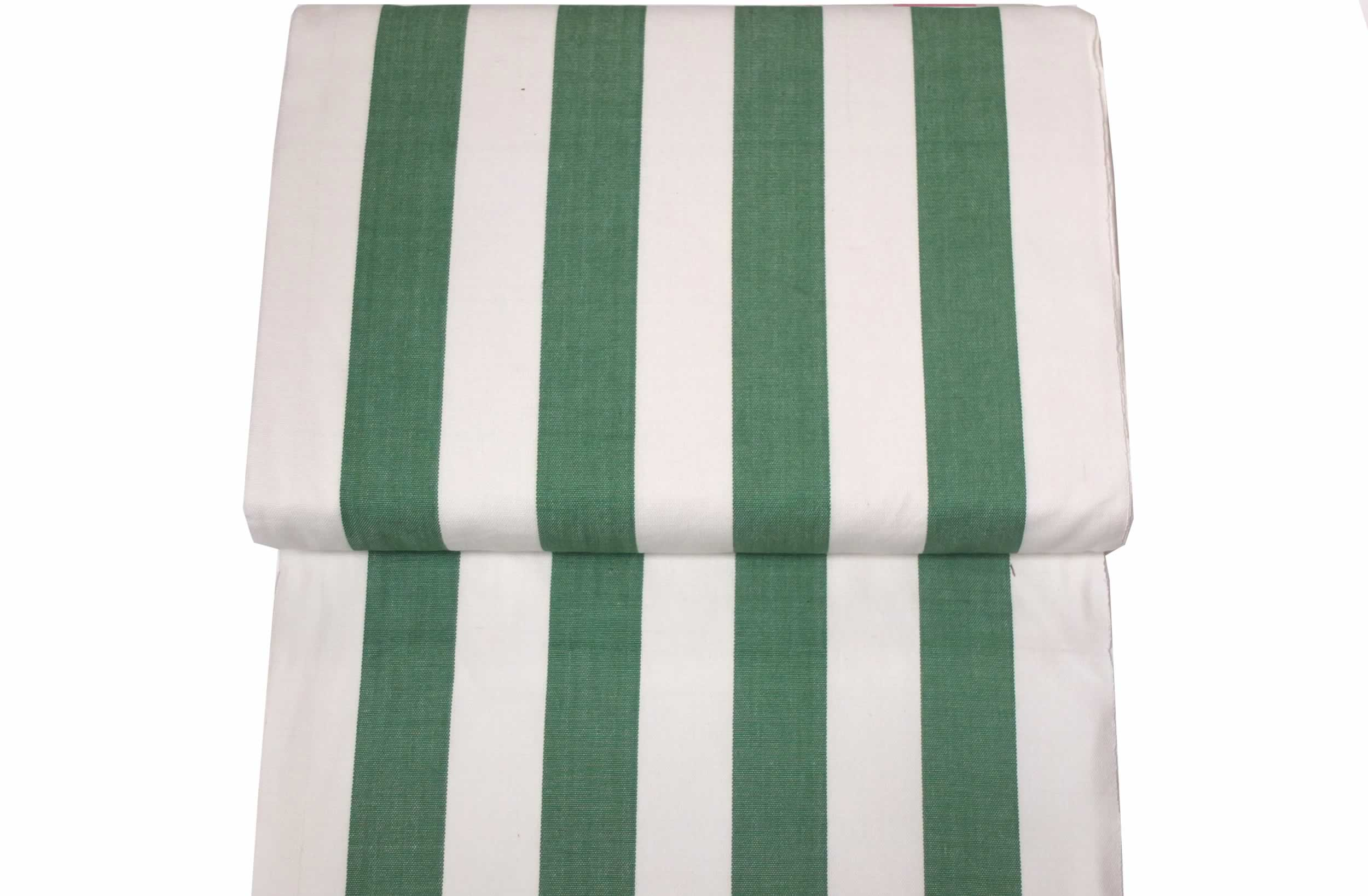Green White Striped Deckchair Fabric
