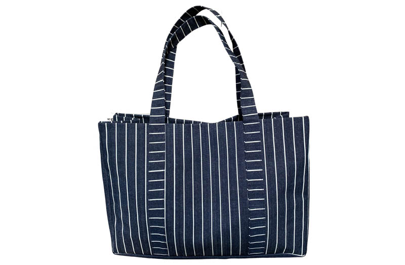 Extra Large Beach Bags Navy blue and white stripe