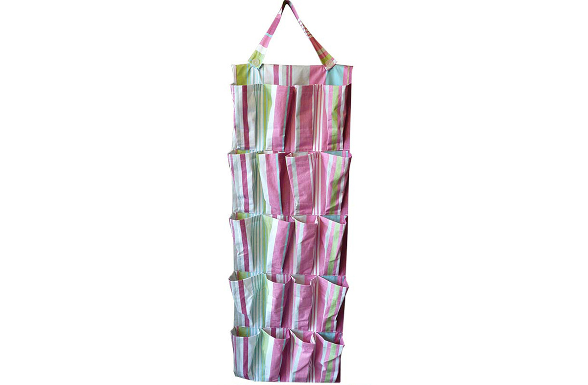 Pink Hanging Pocket Organisers | For Bathrooms Water Repellent