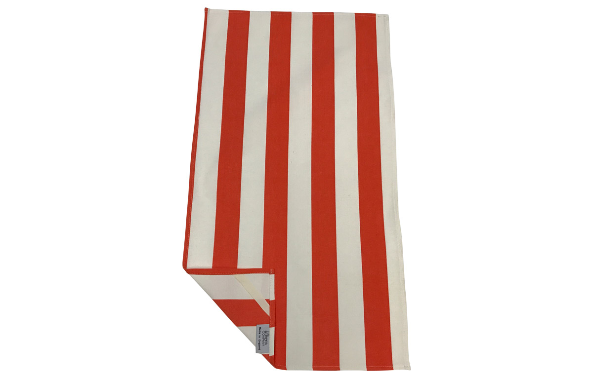 Orange & White Striped Tea Towels