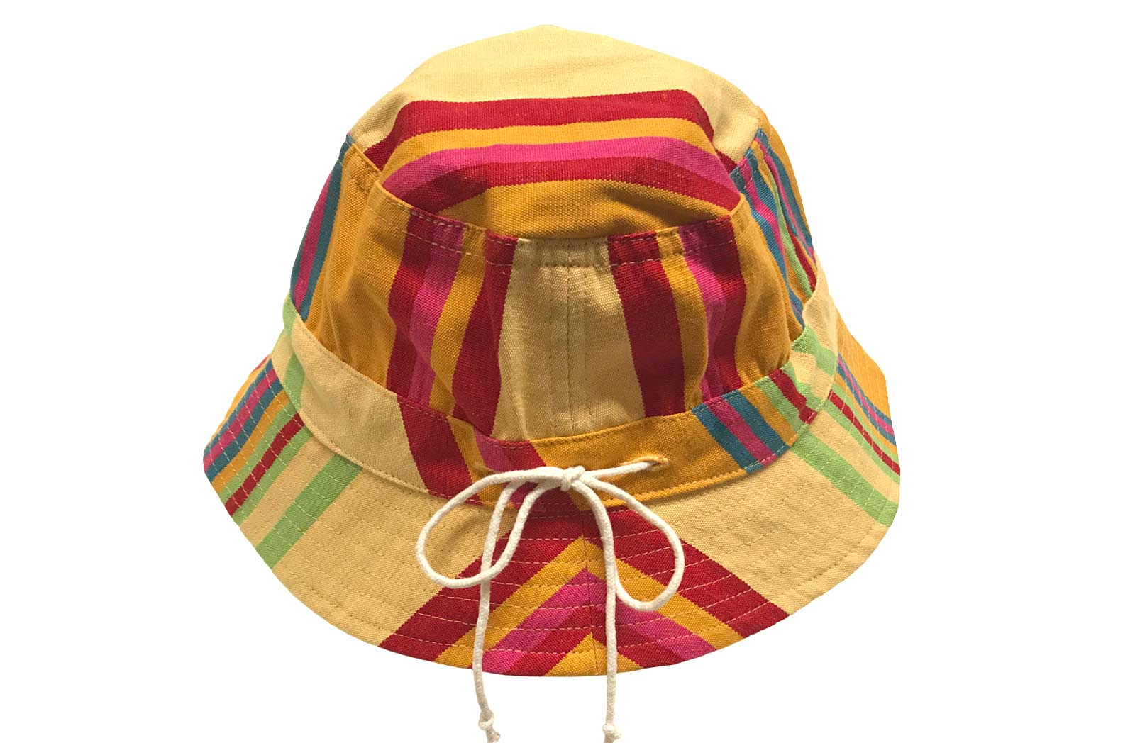 Childrens Yellow Striped Sun Hat