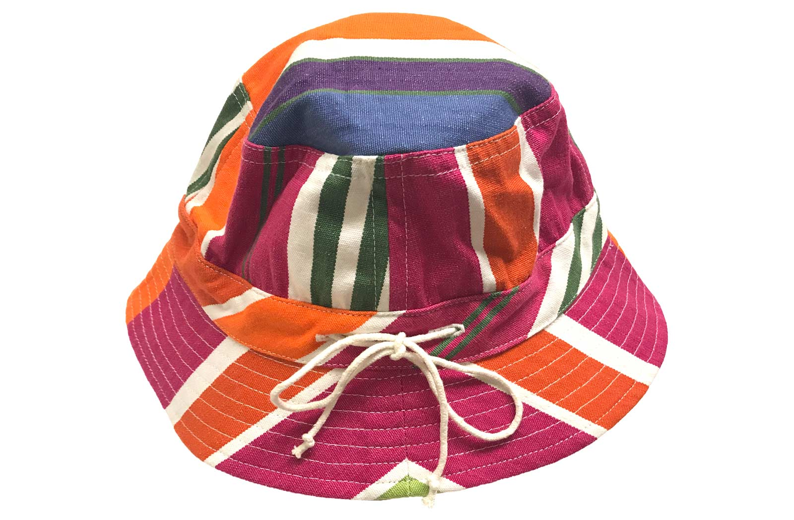 Childs Stripe Sun Hat - Pink, Blue, Green Stripes