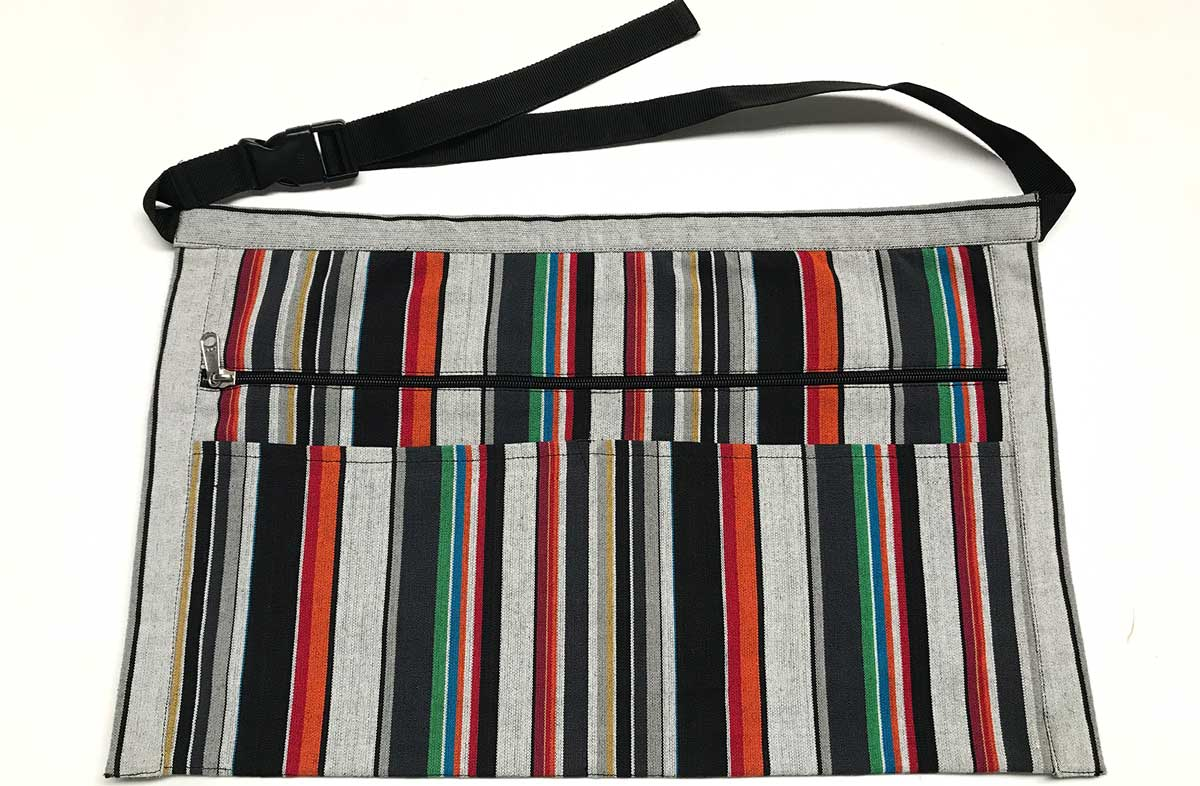 Black and Grey Striped Money Aprons