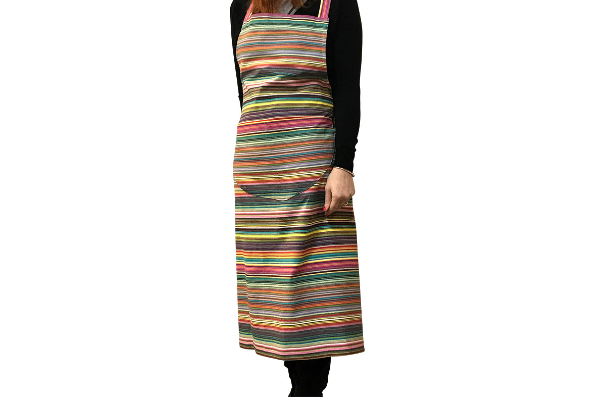 thin rainbow multi stripes - Striped Cotton Aprons