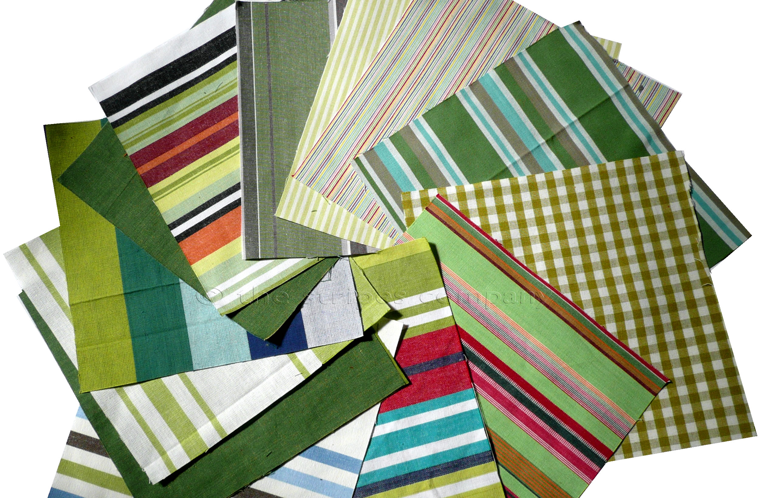 Green Patchwork Fabric Squares | Quilting Fabric Squares Green  Stripes