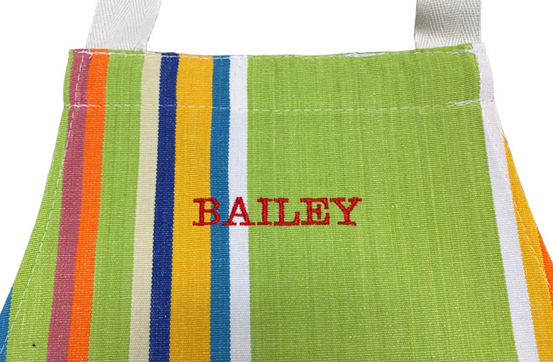 Striped Toddler Aprons Add Personalisation Per Initial