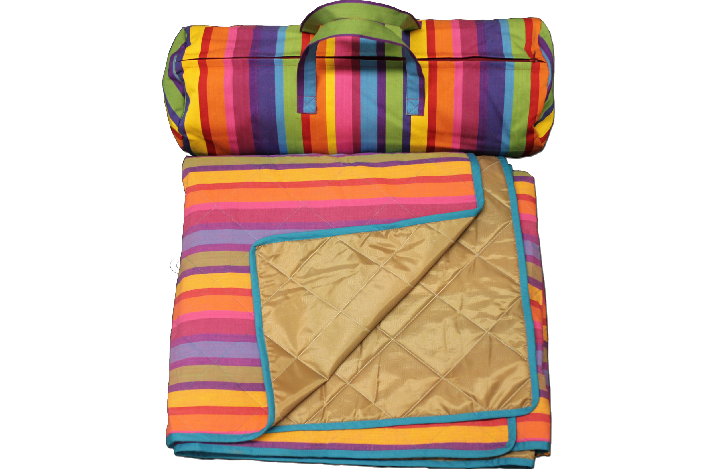 Striped picnic blankets with carry bag roll up picnic for Au maison picnic blanket