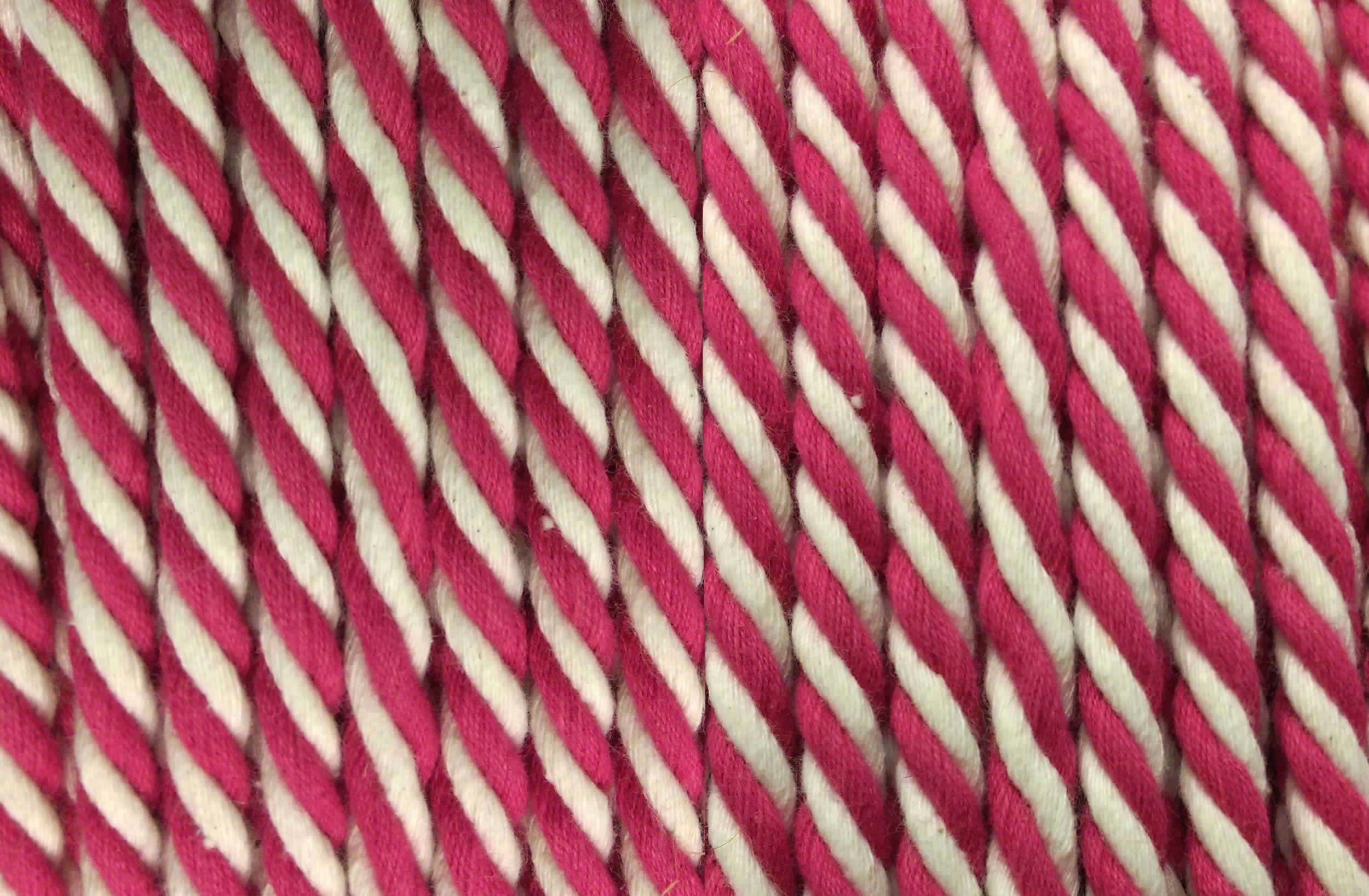 Pink Striped Cord | Pink and White Striped Rope