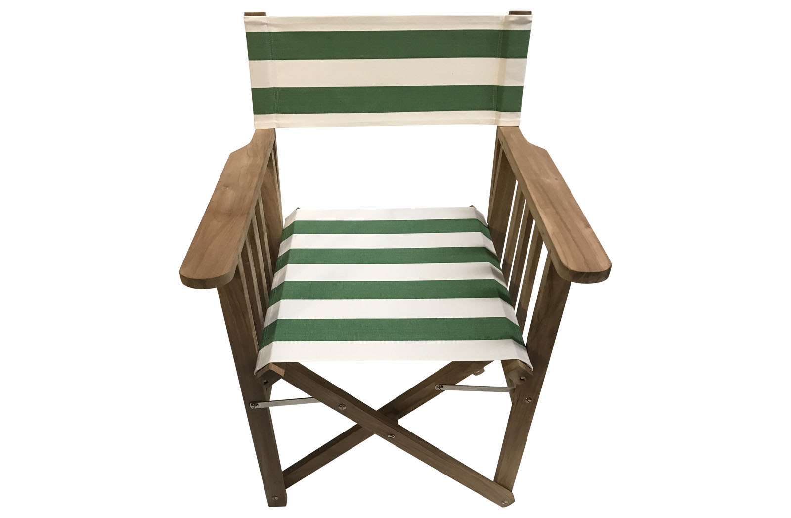 Green And White Directors Chair Covers The Stripes