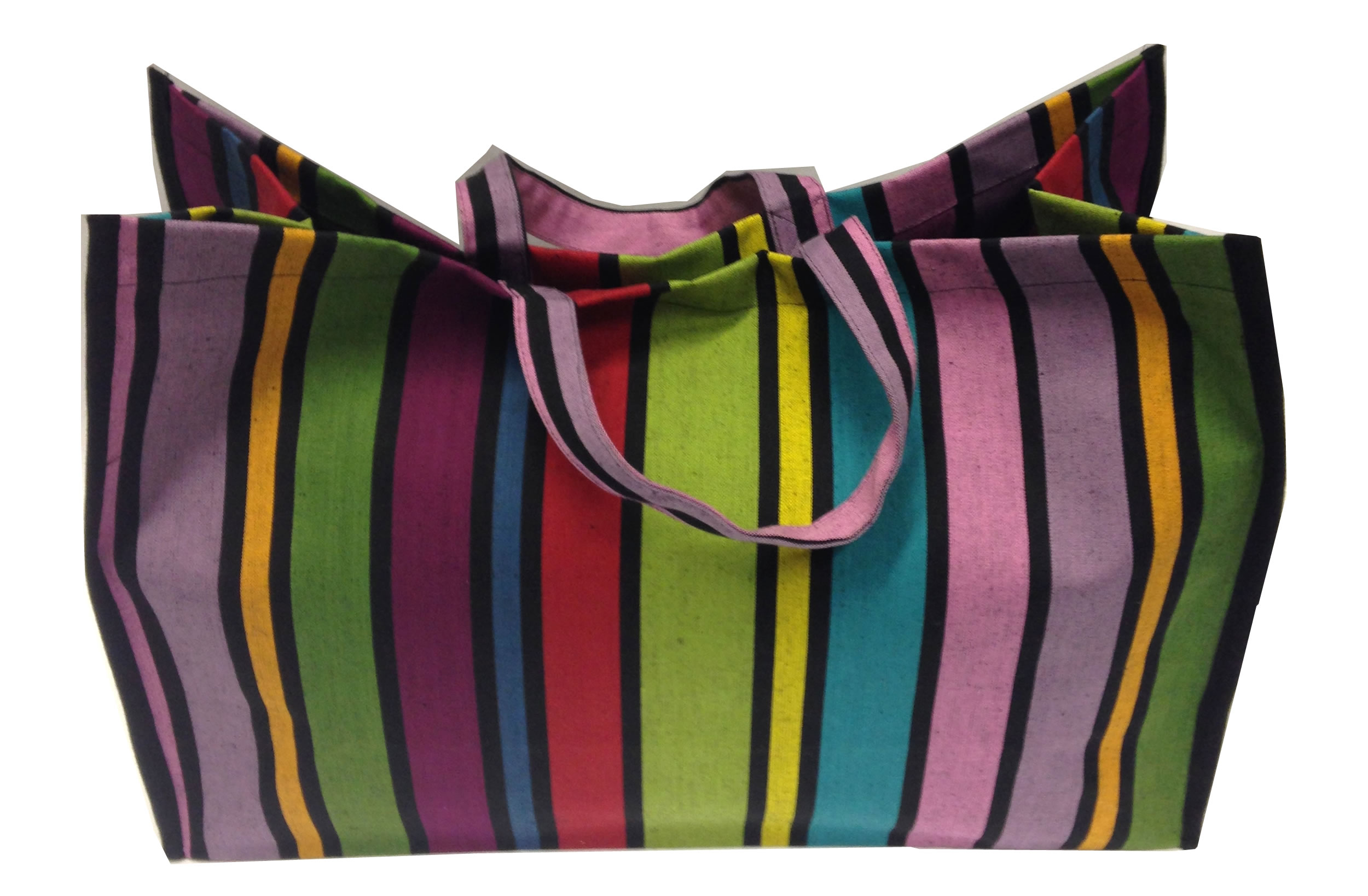 Rainbow Stripe Large Beach Bag Shopper