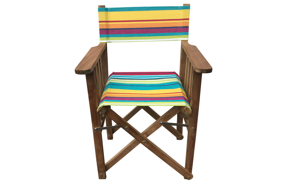 Replacement Director Chair Covers in bright stripe Aerobics fabric