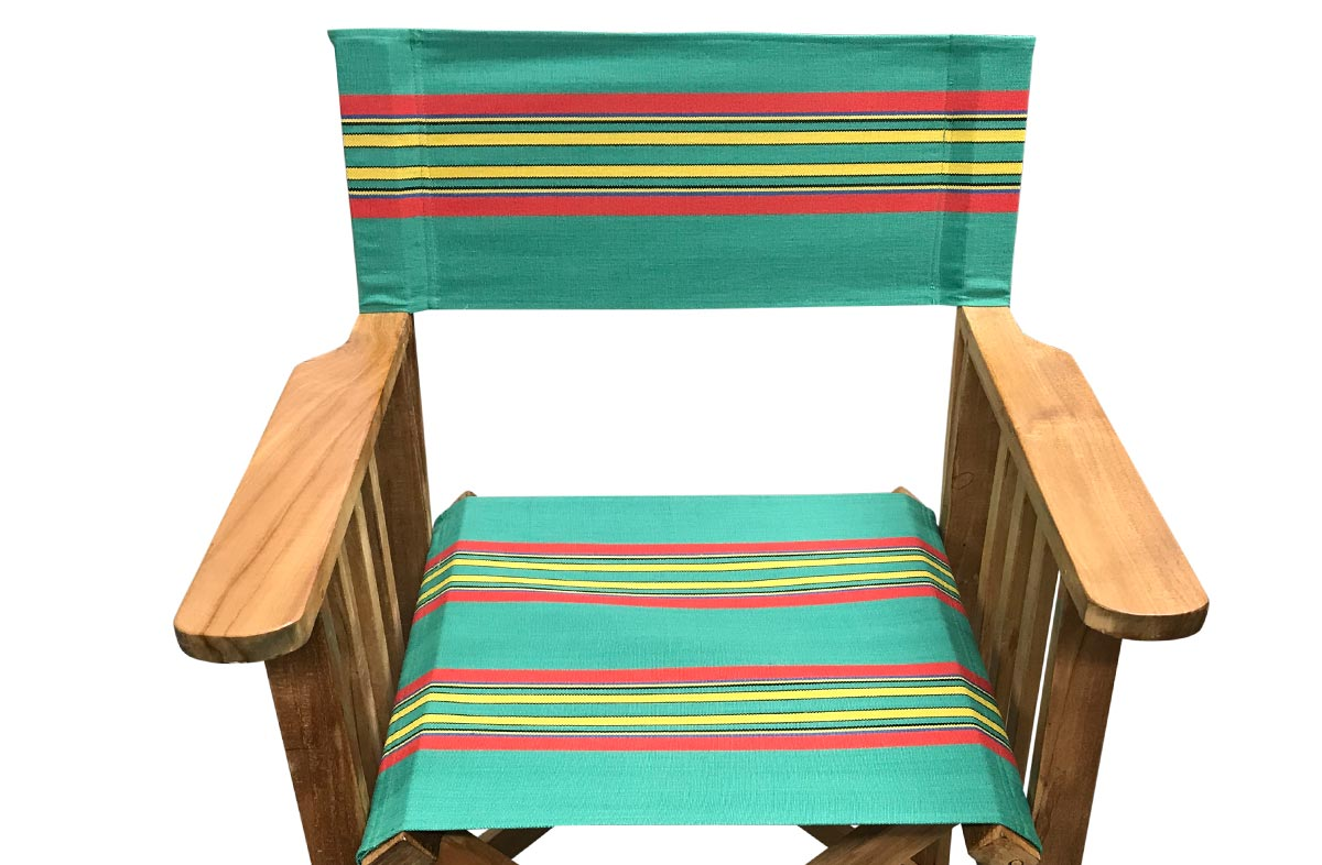 Birdwatching Directors Chair Covers | Vintage Green Stripe Replacement Director Chair Covers